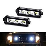 iJDMTOY (2) High Power 3-CREE LED Daytime Running Light Kit Compatible With Behind The Grille or Lower Bumper Insert Area, Xenon White