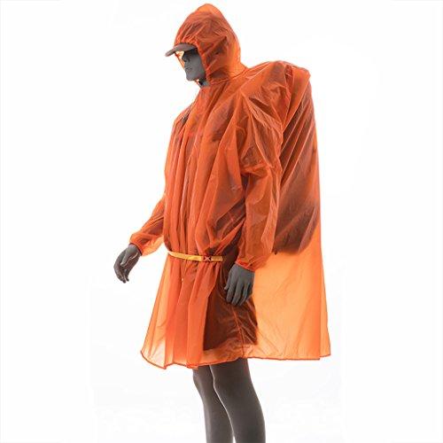 FSYY Regenkleding Regenjas Poncho Ultralight Super waterdicht 5000+ 15D gecoat silicium Multifunctionele Mannen Vrouwen Wandelaars Visserscamping Klimmen Toerisme Outdoor Grond doek luifel