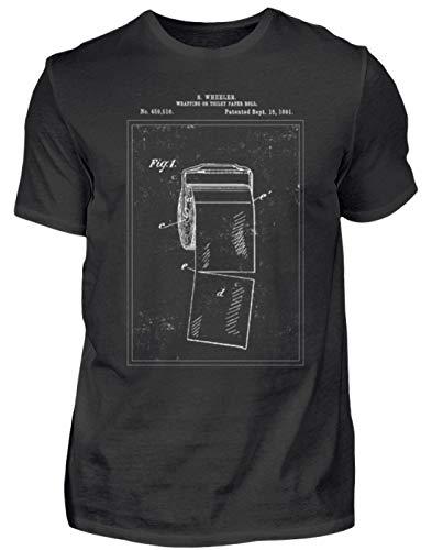 Toilettenpapier Patent lustiges Geschenk - Herren Shirt -XL-Schwarz