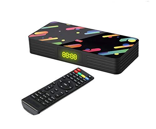 Italdos Decoder Digitale Terrestre HD Mini DVB-T2 Hevc H.265 Mpeg-4 10-bit 1080P WiFi Supporto USB HDMI Scart Ethernet per Televisione Ricevitore TV Adatto a Nuovo Standard in Vigore