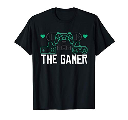 The Gamer Console Controller Computer PC Cool Gaming Gifts Camiseta