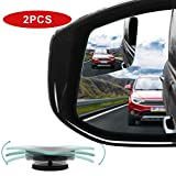 POMFW Blind Spot Mirror, Rearview Convex Side Mirrors for Cars SUV Truck Van Stick on 3M Adhesive, Rear View HD Glass Frameless Sway Rotate Adjustable Wide Angle, 2 inch Rhombus 2pcs