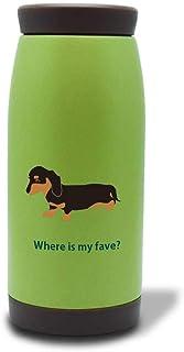 ダックスフンド ブラック&タン 保温 保冷 真空 ステンレス マグボトル 360ml グリーン ダックス ミニチュアダックス 犬 ペット 動物 アニマル ボトル マグ 緑 ギフトラッピング Fave フェイブ f200140