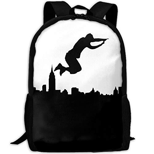 Rucksack,Spielen Sie Parkour In New York Backpack, Geeignete Schulrucksäcke Für Schulcamping,43x28x16cm