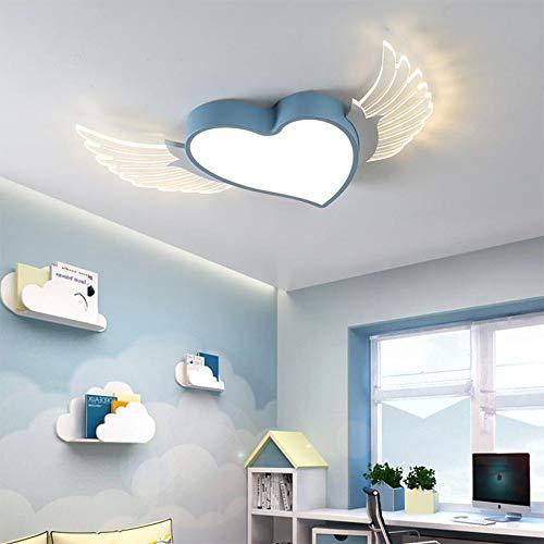 LED 24W Lámpara de Techo Habitación de Niños Luz de Techo Metal Cuarto Regulable Moderno para Sala de Estudio, Creatividad Forma de Corazón Diseño Decor Lámparas,Pantalla de acrílico,H6CM