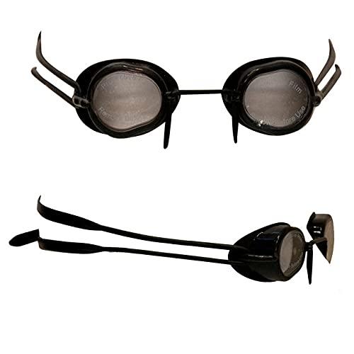 Swimxwin SILFLAKE - Gafas suecas revolucionarias totalmente de silicona suave, aptas para natación, piscina, entrenamiento profesional (negro)