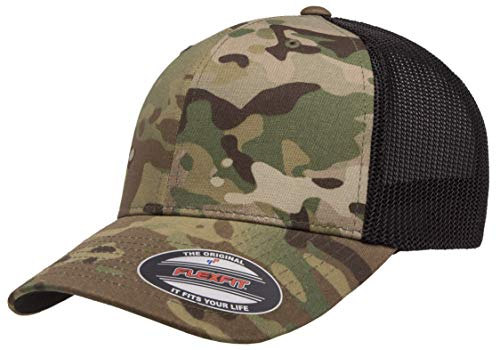 Flexfit mens Multicam Trucker Cap Hat, Multicam, One Size US