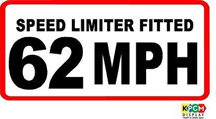 100X50Mm 62 Mph Speed Limiter Fitted Sticker Van Bus Auto Coach Zakelijke Veiligheid Teken Stickers, Waarschuwing Stickers Labels, Zelfklevende Vinyl,