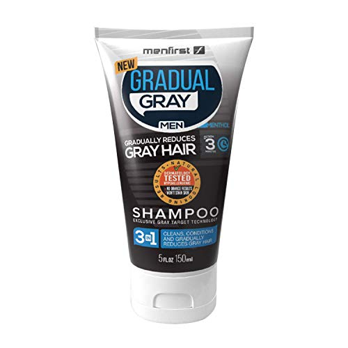 MenFirst Gradual Gray 3 in 1 Grey Reducing SHAMPOO For Men - Cleans, Conditions and Gradually...