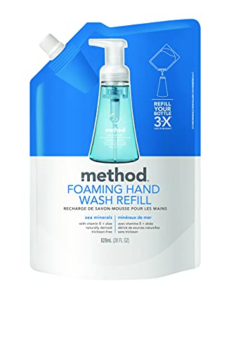 Method Foaming Hand Soap Refill, Sea Minerals, 28 oz, 1 pack, Packaging May Vary