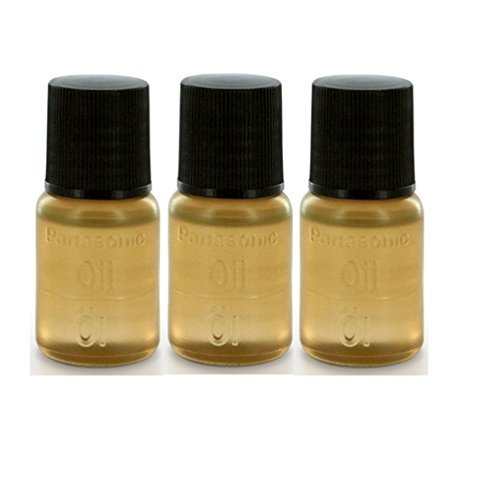 Oil for Electric Shavers, Electric Trimmer for Hairs and Blade Cutting Units (3 X 6ml Bottle) - Made by Panasonic