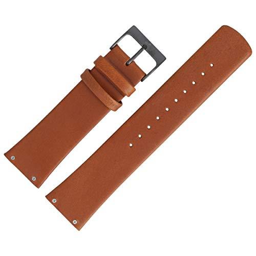Skagen Uhrenarmband 23mm Leder Braun Glatt - SKW6106