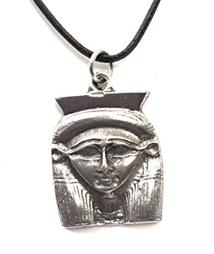 HATHOR egipcia diosa estaño unisex colgante collar etm-535