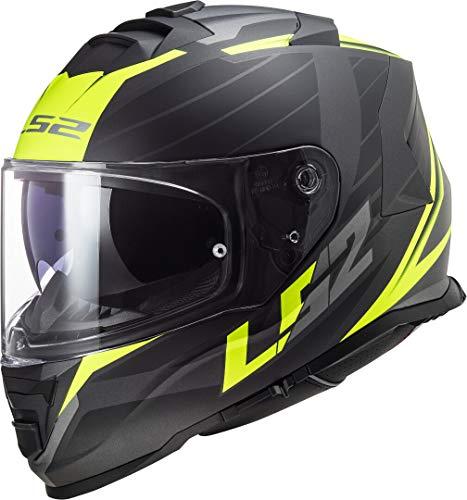 LS2 Casco de moto FF800 Storm Nerve Matt Black H-V Yellow negro/amaril