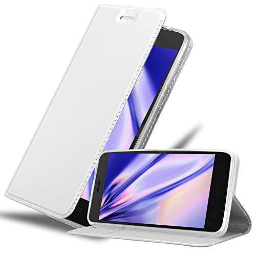 Cadorabo Hülle für Lenovo K6 / K6 Power in Classy Silber - Handyhülle mit Magnetverschluss, Standfunktion & Kartenfach - Hülle Cover Schutzhülle Etui Tasche Book Klapp Style