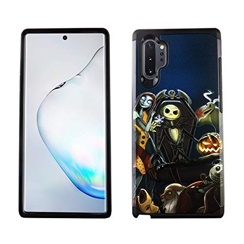 Note 10 Plus Case The Nightmare Before Christmas Hybrid Case Shock Proof Never Fade Slim Fit Cover for Samsung Galaxy Note 10+ Phone