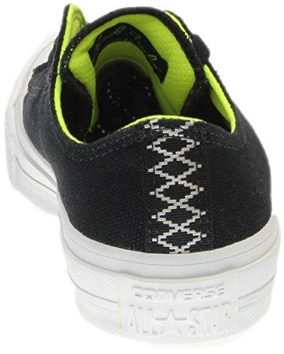 Converse Kid Chuck Taylor All Star II Low Sneaker Shield Ox (5 Big Kid M, Black-Volt-Gum)