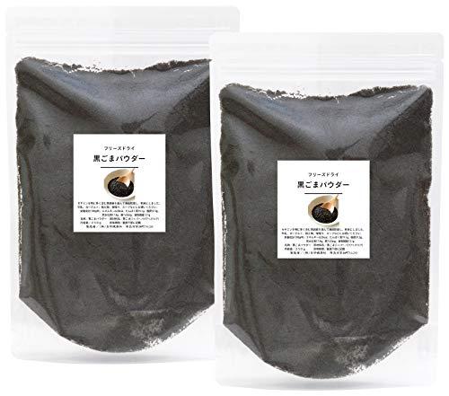 自然健康社 黒ごまパウダー 500g(250g×2袋) チャック付袋入り