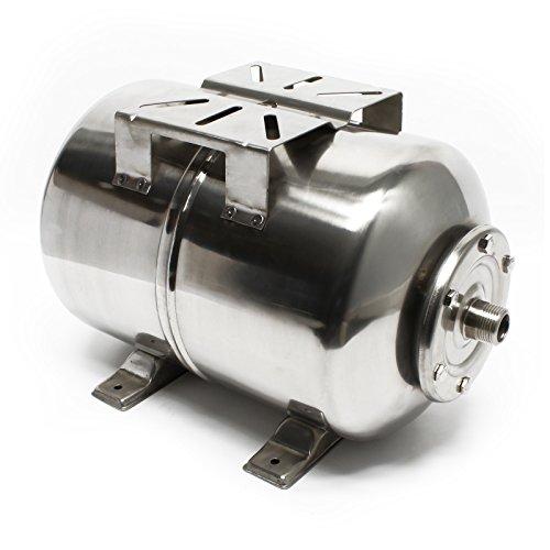 Edelstahl Ausdehnungsgefäß 24L für Hauswasserwerk und Druckerhöhungsanlage mit EPDM Membran