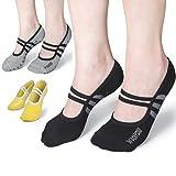 WithYou® Yoga Socken - Yoga Pilates Piloxing Stoppersocken rutschfeste/Antirutsch Noppensocken Premium-Qualität Damen (34-39, Gelb)