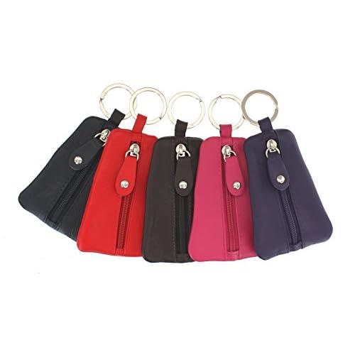 Portachiavi con logo Ashlie Leather e borsellino di pelle ACK1 Multicolore X 5