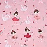 Baumwollstoff Popeline Ballerina rosa - Preis gilt für 0,5