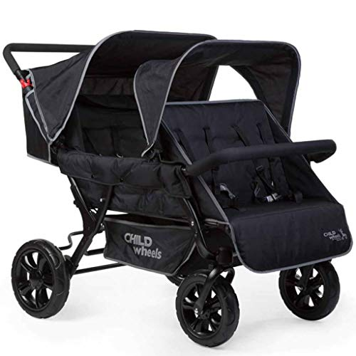 Childhome Vierlingswagen Two by Two Sportwagen schwarz