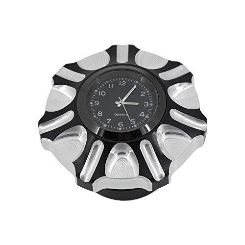 Tapon Deposito Combustible Moto Capacidad de gas de gas de gasolina con tapa de combustible con tapa de combustible con reloj de ajuste de reloj para Harley Dyna Street Bob Sportster XL 883 1200 Softa