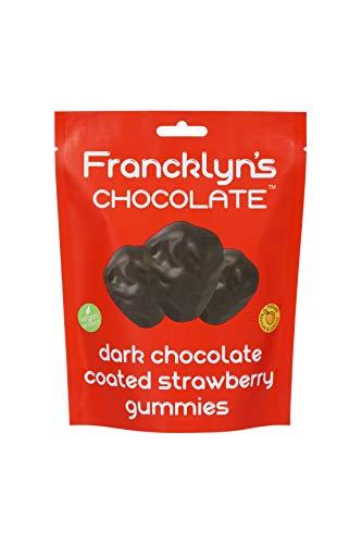 Francklyn's Chocolate Dark Chocolate Coated Strawberry Gummies, 120 g