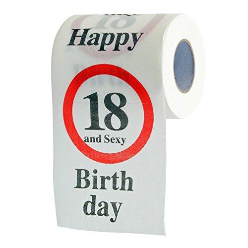 Goods & Gadgets Divertimento Carta igienica Divertente per Il 18° Compleanno Carta igienica Articoli Regalo di Carta igienica Decorazione di Compleanno