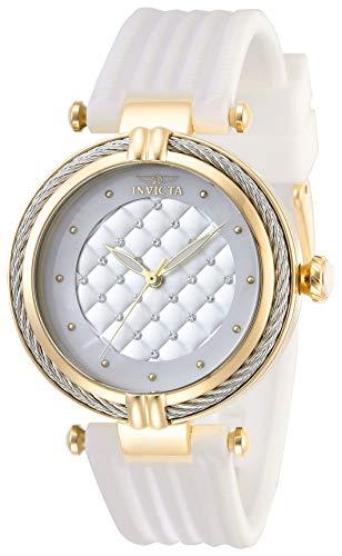Invicta Women's Bolt Stainless Steel Quartz Polyurethane Strap, White, 18 Casual Watch (Model: 28943)