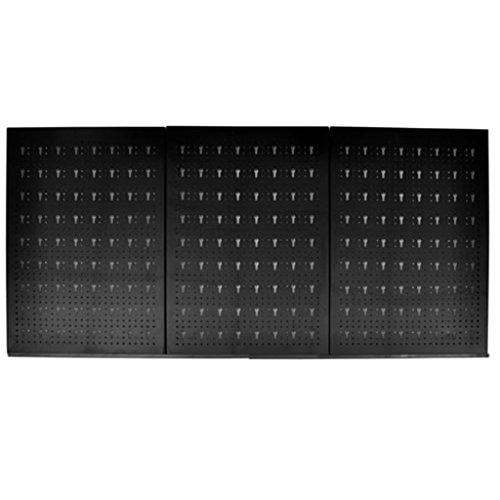 Lot de 3 panneaux muraux perforés Métal 9,5 cm
