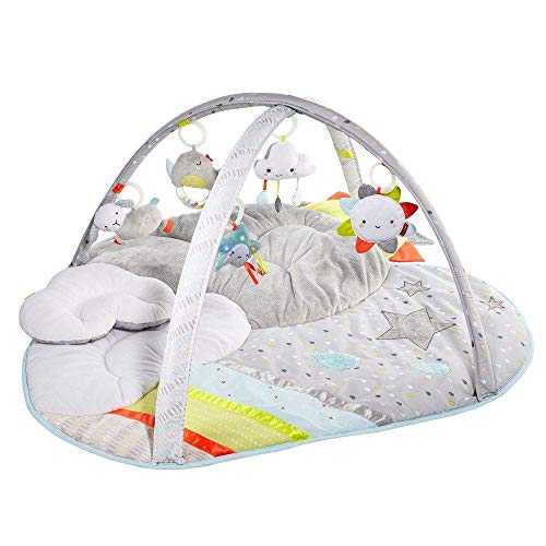 Skip Hop Silver Lining Cloud Baby Play Mat and Infant Activity Gym, Multi-Color...