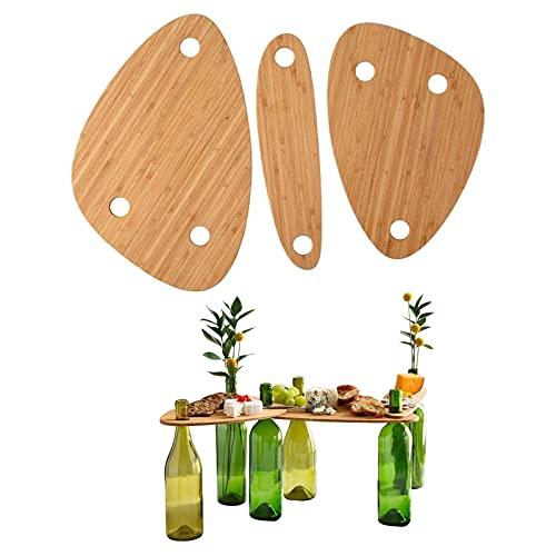 Juego de bandeja para servir de madera para botella de vino, Mesa de picnic portátil al aire libre, Bandeja portátil para aperitivos y queso, para camping, viaje, bandeja para botellas de cóctel