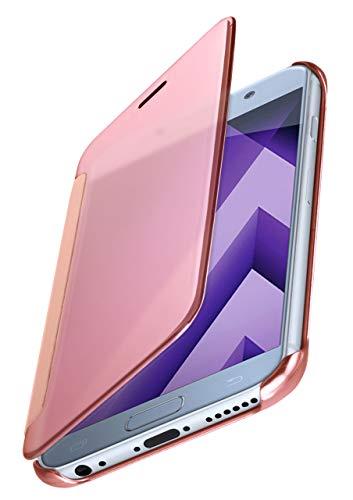 MoEx® Funda Protectora Fina Compatible con Samsung Galaxy A5 (2017) | Cristal Tintado Transparente, Rose doré