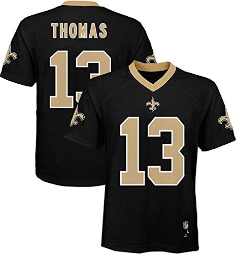 Outerstuff Michael Thomas New Orleans Saints NFL Boys Toddler 2-4 Black Home Mid-Tier Jersey (Toddler 3T)