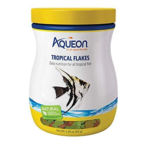 Aqueon Tropical Flakes Fish Food, 2.29-Ounce