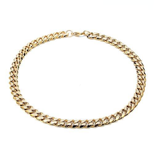 Solnique acciaio inossidabile da donna,catenacci per aragosta in dorate collana donna placcata, a catena semplice per donna e ragazza