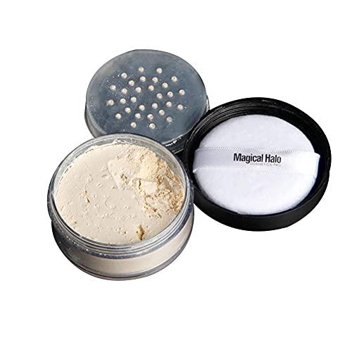 Poudre Libre, Poudre Fixante Maquillage, Poudre de Réglage en Vrac, Poudre de Finition Professionnelle pour la Couverture de Maquillage, Contrôle de l'huile Translucide, Léger (Peau Blanche #2)