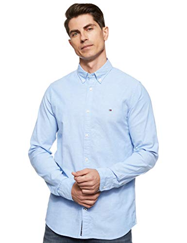 Photo of Tommy Hilfiger Men's Core Stretch Slim Oxford Casual, Blue (Shirt Blue 474), X-Large
