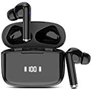 Wireless Earbuds Headphones Bluetooth 5.0 True Wireless Earbuds in-Ear Stereo Wireless Earphones IP7 Waterproof Touch Control with Microphone Binaural Calls Single/Twin Mode for Sports Workout