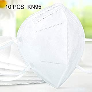 For Paint 10 PCS KN95 Foldaway Earloop Breathable Respirator Dustproof Protection Anti-fog Face Mask(White)