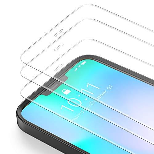 Bewahly Cristal Templado para iPhone 12 Pro MAX [3 Piezas], Ultra Fino Protector Pantalla con Marco de Instalación Fácil, 9H Dureza Vidrio Templado para iPhone 12 Pro MAX 6.7