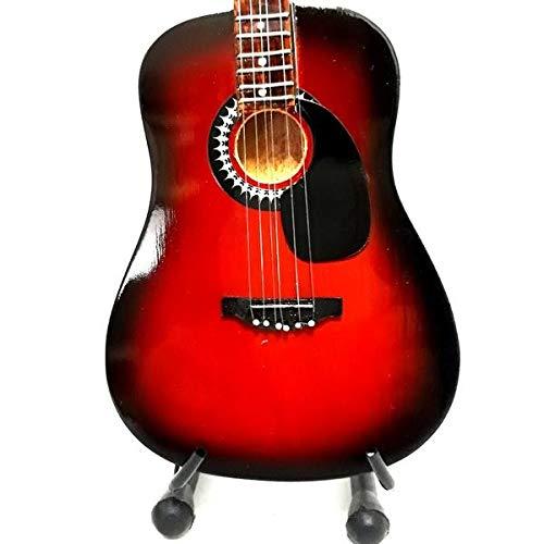 Mini guitarra de colección réplica de artistas de los años sesenta