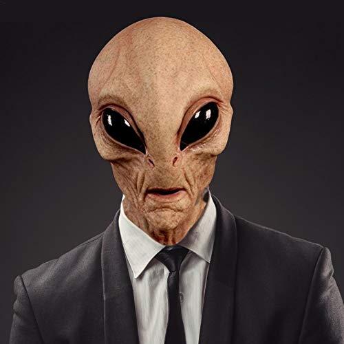 Needediy Halloween-Kopfbedeckung Alien-Kopfmaske für Erwachsene und Kinder - Halloween-Kostüm Realistische Alien-Maske - Latex-Vollgesichtsmaske