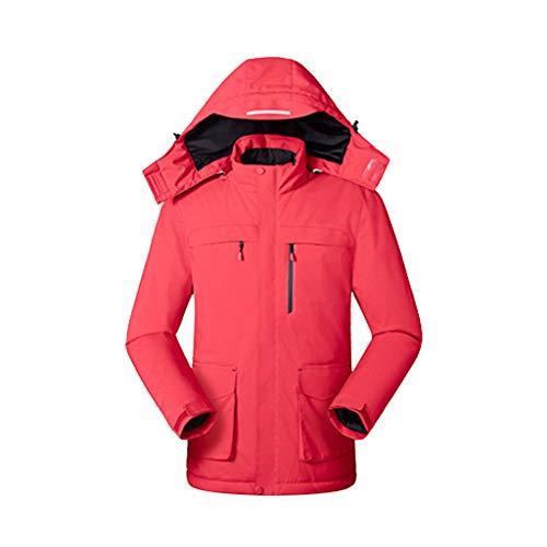 ETEBAS Heizpullover, Warme Kinderkleidung Im Freien, USB-Aufladung, Heizjacke, Jackentemperatur, Winter-Mantel, Geeignet Zum Reiten, Skifahren Und Angeln(Rot,S)