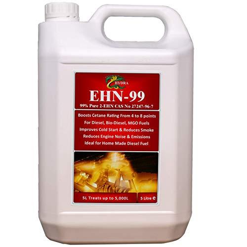 HYDRA EHN-99 nitrato de 2-etilhexilo 99% de pureza 2 EHN Mejora el Rendimiento Aditivo diésel Potenciador de Cetano 5 L tratan hasta 5000 L