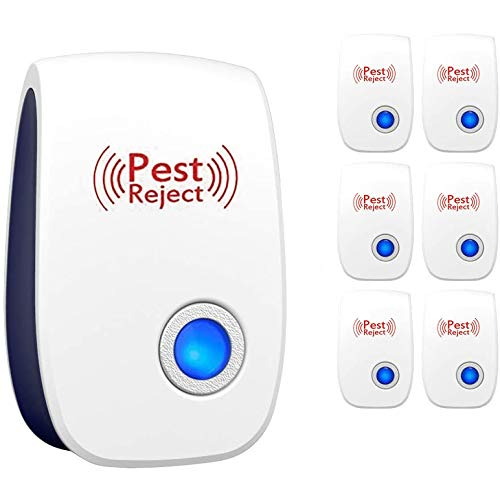 Bug Boss Ultrasonic Pest Repeller 6 Packs | Electronic Pest Repellent Plug in | Indoor Control | Reject for Insects, Mice, Ant, Spider, Mosquito, Rodent, Roach, Flea, Fly, Bug | Humans and Pets Safe