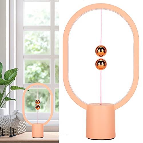 Salaty Luz Nocturna LED, lámpara LED magnética Lámpara LED Fuente de alimentación USB Lámpara de Mesa con Interruptor de Aire Medio Lámpara de Mesa LED Elipse para Oficina para Amantes Regalos