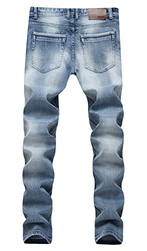 Men's Classic Slim Fit Skinny Stretchy Five-Pockets Denim Outfit Jeans 4
